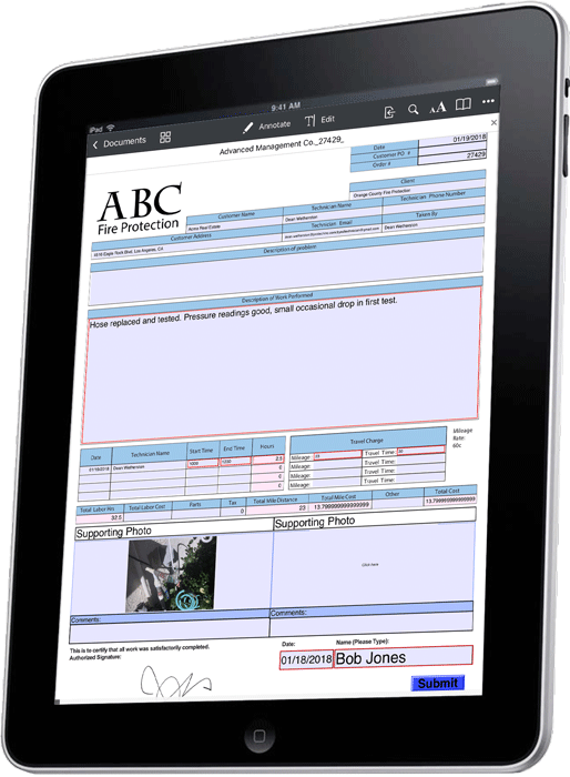 iPad-Fire-Inspection-Work-Order-Form